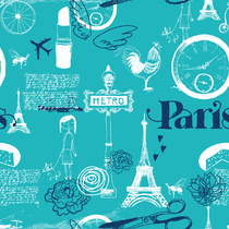 Paris turquoise hivernal by etpourquoipaslalune