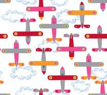 avion de léon rose blanc