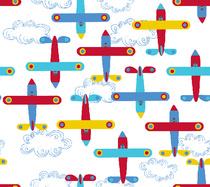 avion de léon rouge blanc
