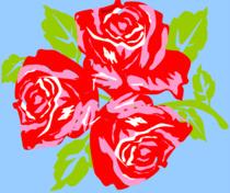 Big Trois Fleurs bleu