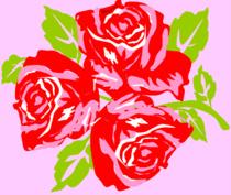 Big Trois Fleurs rose