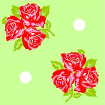 Trois fleurs vert