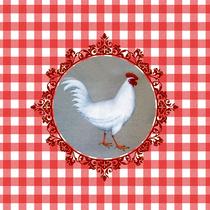 coussin poule