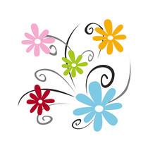 Grosses fleurs couleurs