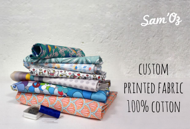 Custom fabric printing on demand, 100% cotton
