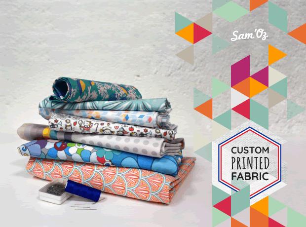 Custom fabric printing on demand, 100% cotton