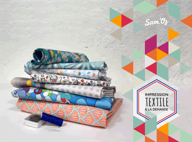 Impression textile à la demande, sur 100% coton