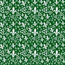 Tissu franco-ontarien (fond vert)