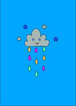 nuage placé bleu