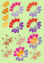 fleur fond vert - nelly baude gerouard - Sam'Oz