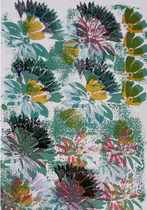 planche fleur réhaussée indienne
