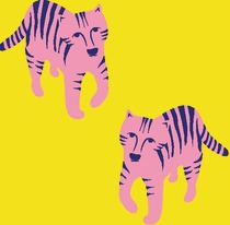 Tigre fond jaune
