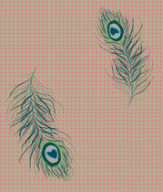 motif plumetis de paon