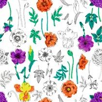 Fleurs verticales