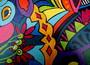 Détail peinture sur bois 5 - isabelle MICHIELS - Sam'Oz