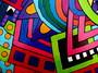 Détail peinture sur bois 8a autre vue - isabelle MICHIELS - Sam'Oz