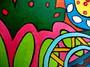 Détail peinture sur bois 13 - isabelle MICHIELS - Sam'Oz