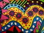 Détail peinture sur bois 14 - isabelle MICHIELS - Sam'Oz